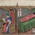 Manuscript Bodleian Douce 195, f. 1r (detail)