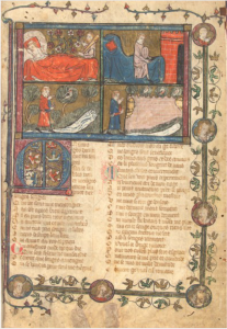 Manuscript Walters 143, f. 1r (example from the Montbaston atelier)
