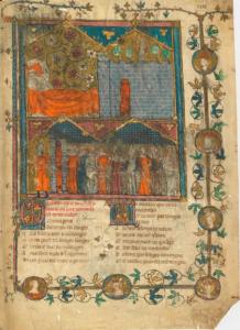 Figure 8: Manuscrit Arsenal 3338, f. 1r (de l'atelier Montbaston)