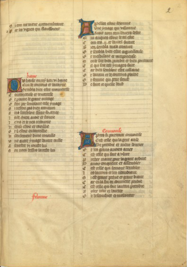 Figure 6: Manuscrit BnF fr 803, f. 2r